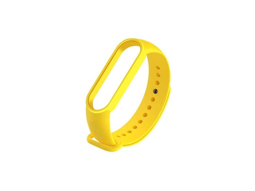 Náhradný silikónový remienok pre Xiaomi Mi Band 5 - žltý
