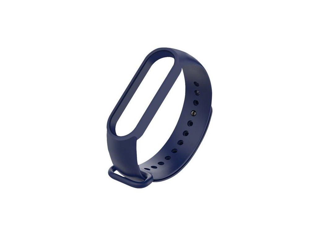 Náhradný silikónový remienok pre Xiaomi Mi Band 5 - tmavo modrý