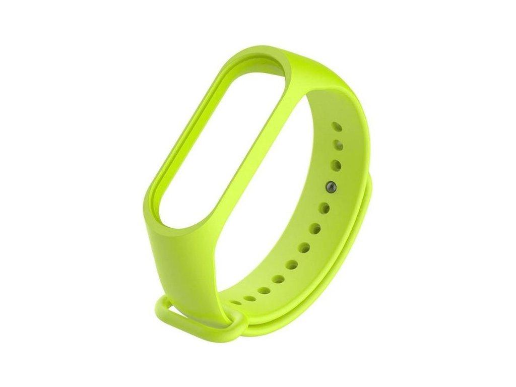 Náhradný silikónový remienok pre Xiaomi Mi Band 5 - svetlo zelená