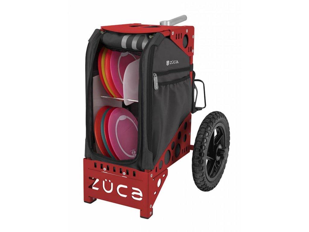 zueca disc golf cart gunmetal red