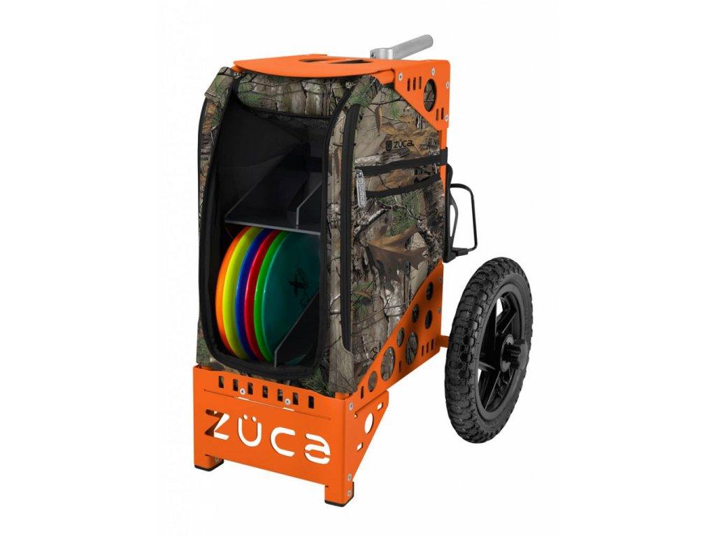 zueca disc golf cart realtree xtra camo orange