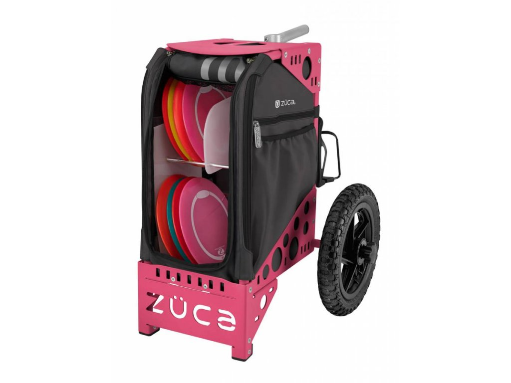 zueca disc golf cart gunmetal pink