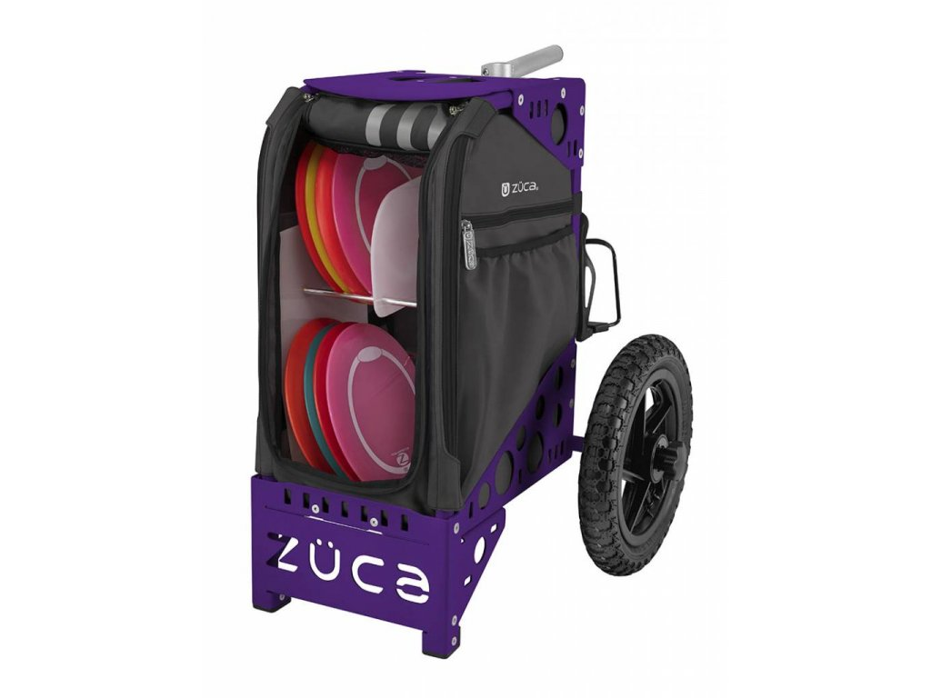 zueca disc golf cart gunmetal purple