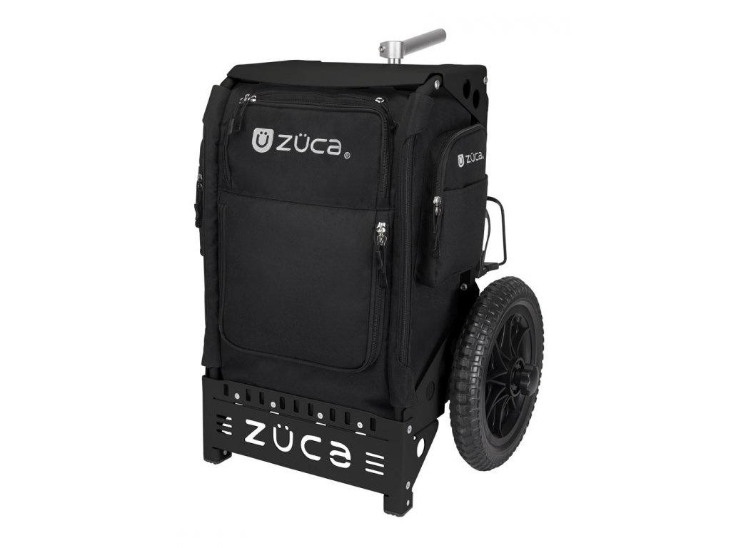 zueca trekker disc golf cart black black (1)