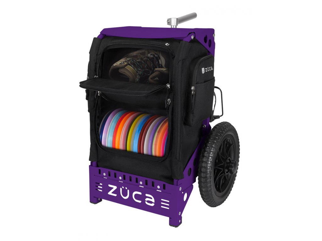 zueca trekker disc golf cart black purple (1)