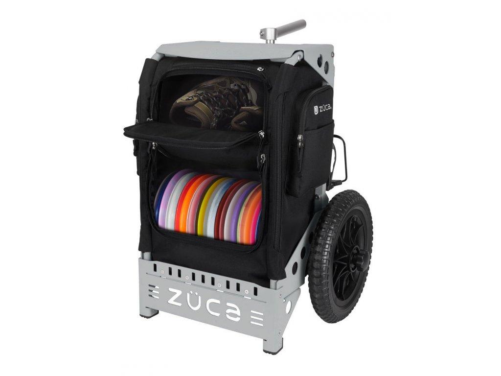 zueca trekker disc golf cart black gray (1)