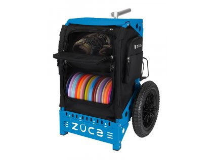 zueca trekker disc golf cart black blue (1)