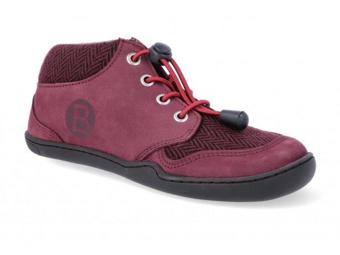 24321 1 barefoot kotnikova obuv blifestyle tapir nubuk textil berry 2