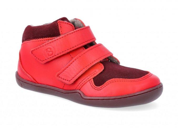 24324 3 barefoot kotnikova obuv blifestyle maki bio wool fleece feuerrot wide 4