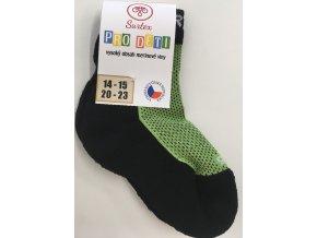 Surtex merino ponožky - froté zelené (Velikost 34-35)