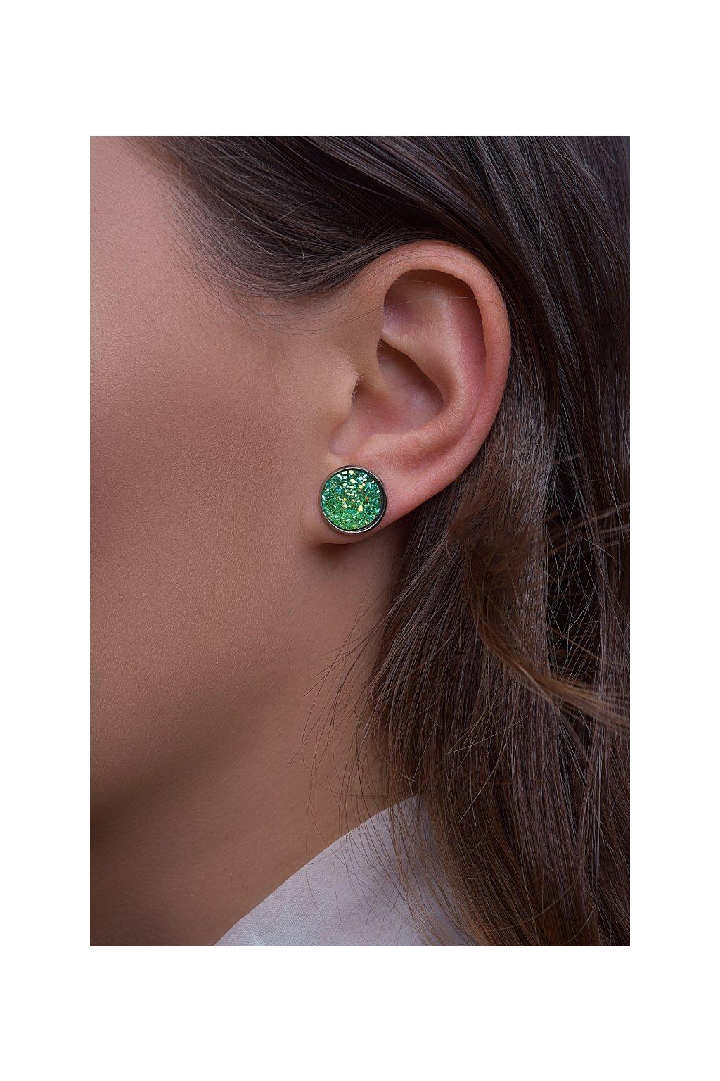 Nausnice Green Dragon eye (zelene draci oko) 2