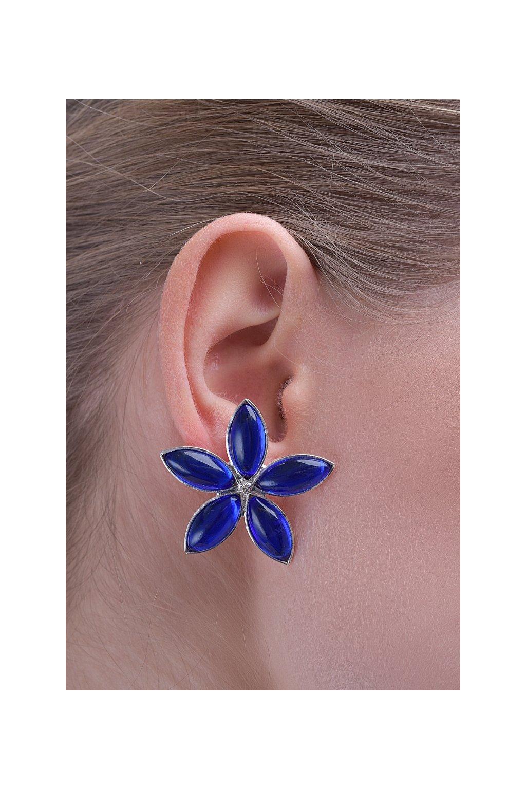 Nausnice Lotus blue flower 2