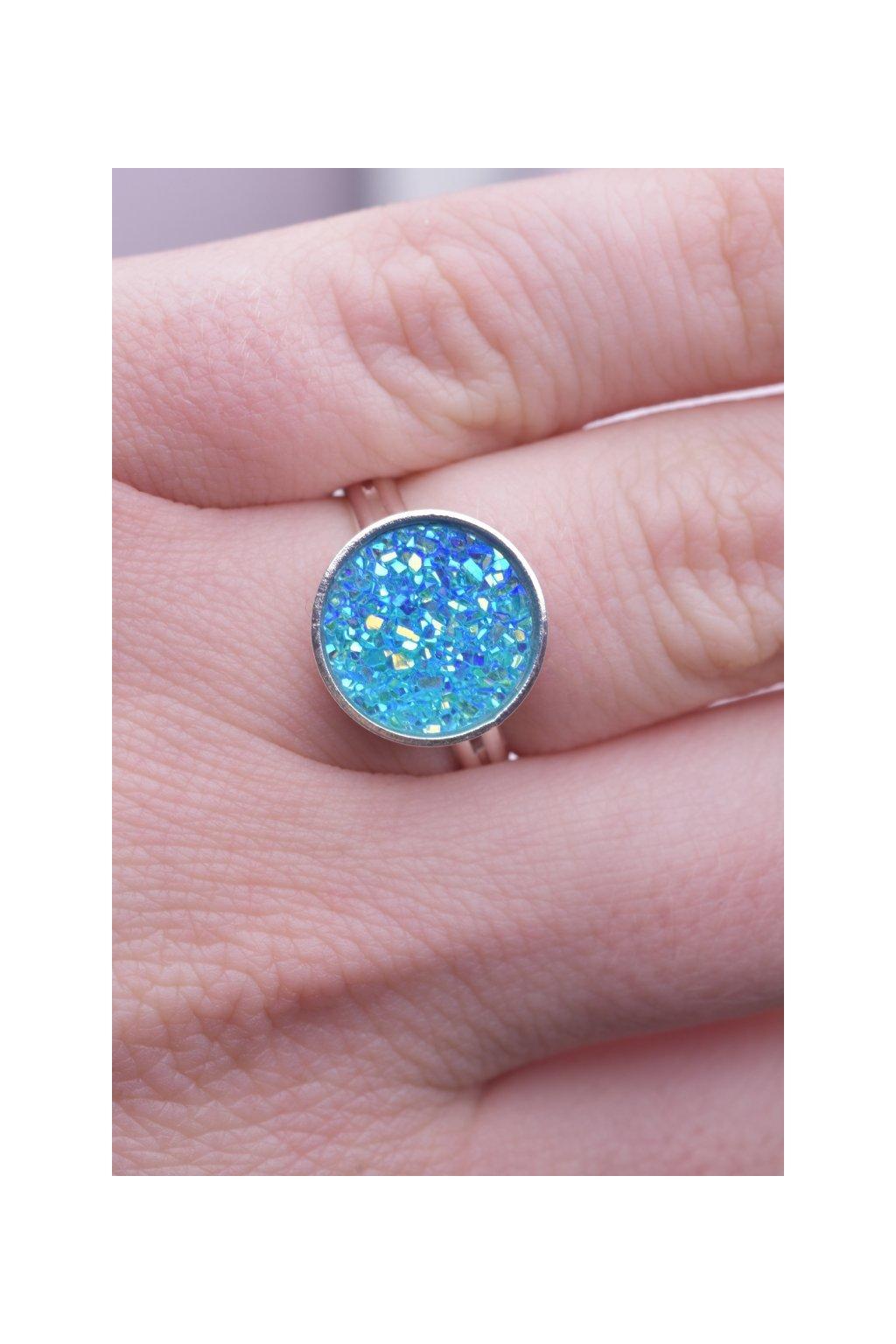 Prsten blue Dragon eye (modre draci oko) 2