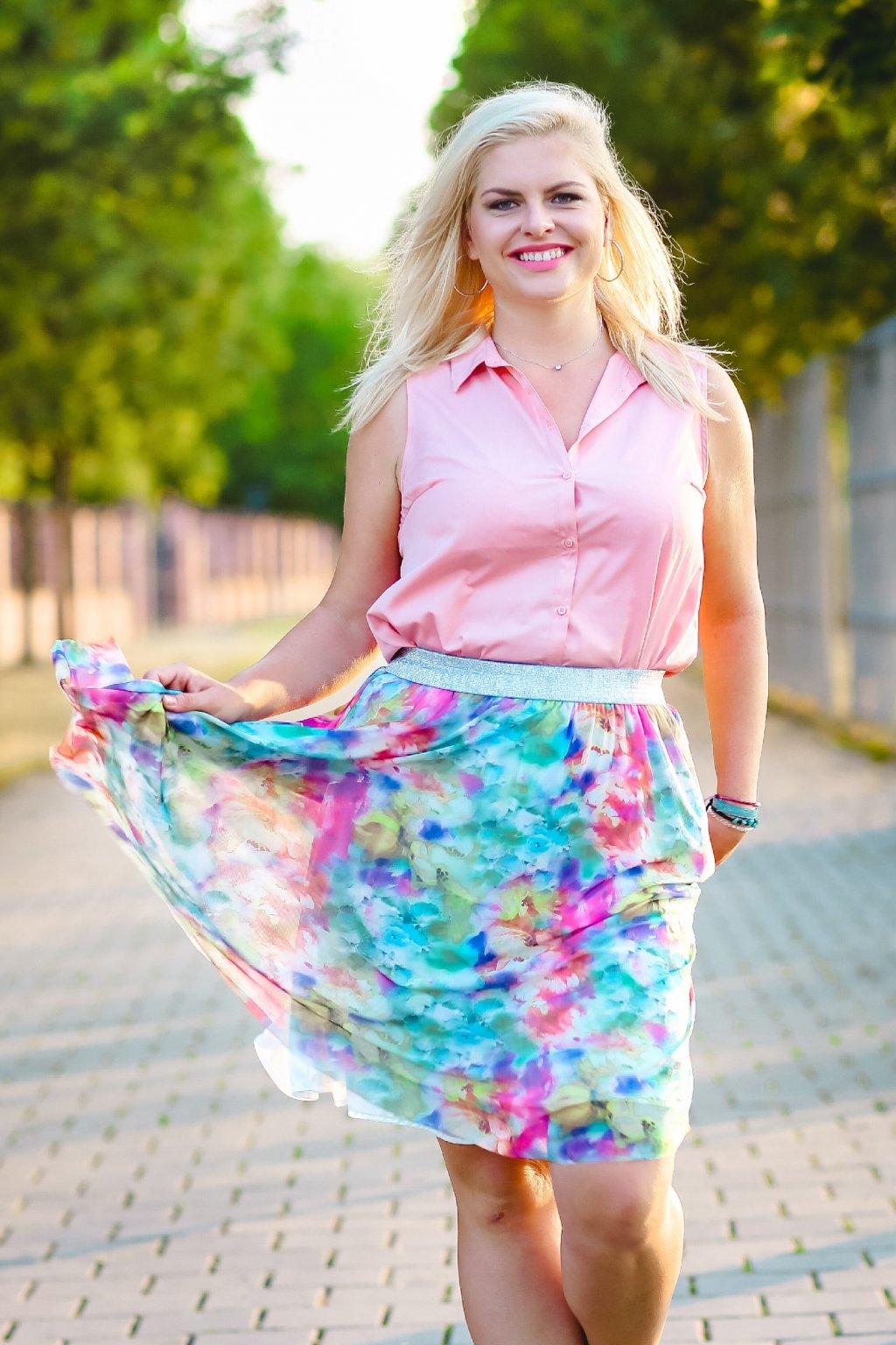 Květinová tylová sukně Emily ZURI 3