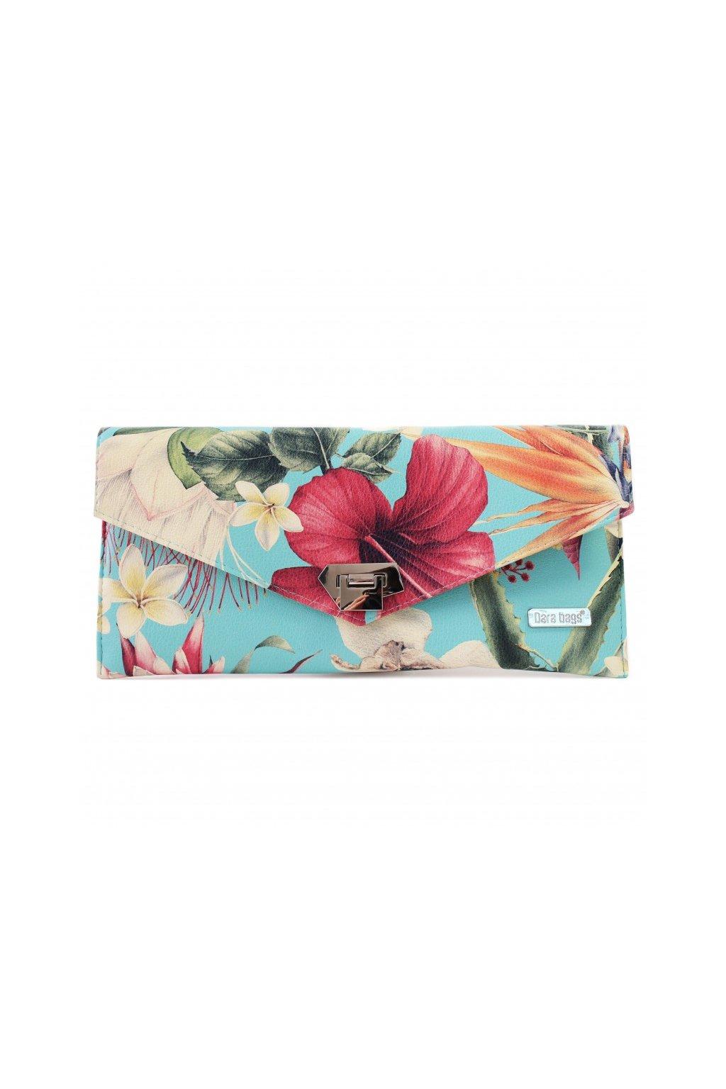 Kvetinova kabelka Malibu Classy tyrkysova 1