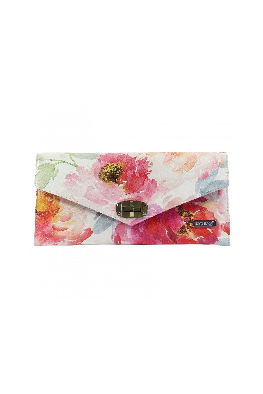 Pestrobarevna kvetinova kabelka Malibu Classy ruzova 1