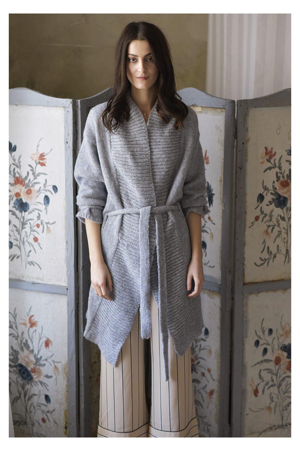 Dámský kimono svetr MIK světle modrý
