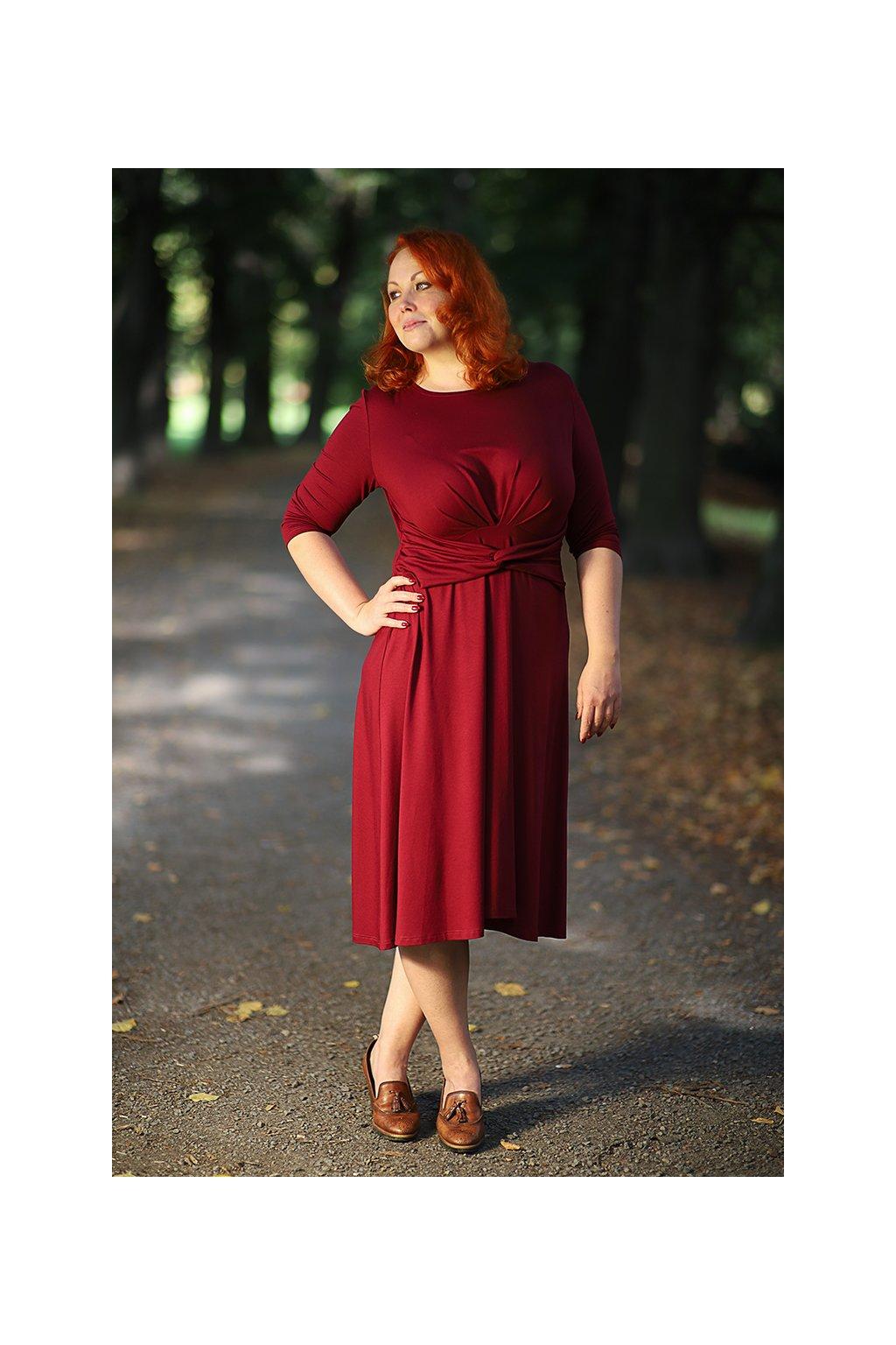 Šaty Dara s uzlem v různých barvách 4
