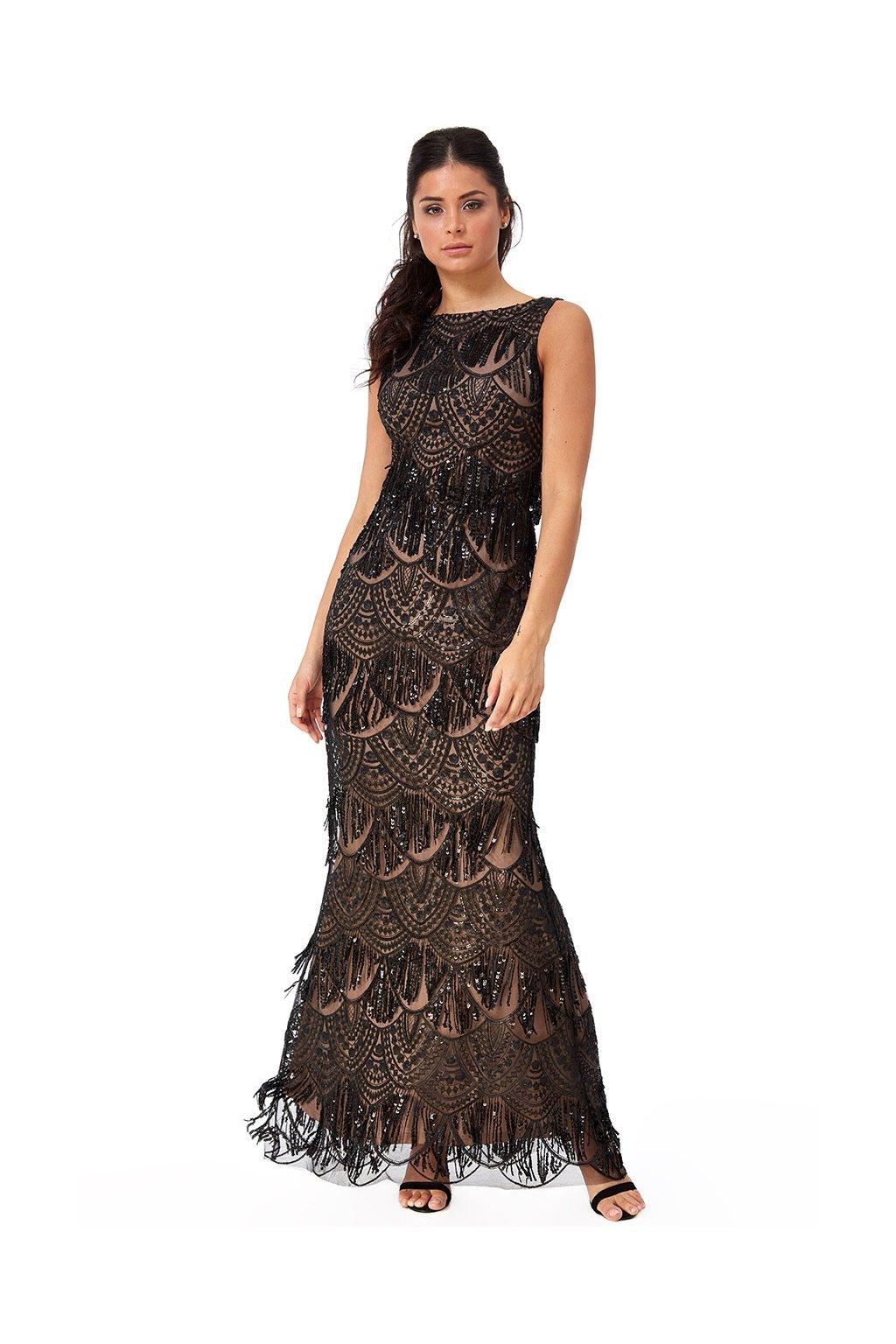 Dlouhé společenské šaty Lucy černé