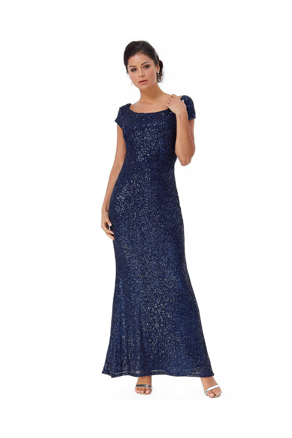 Dlouhé společenské šaty Liberty tmavě modré