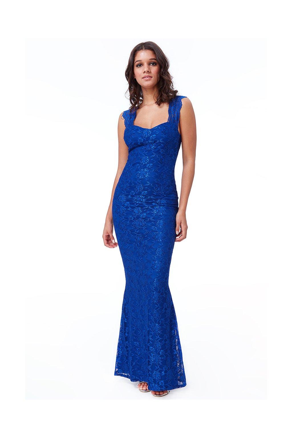 Dlouhé společenské šaty Harmony královská modrá 1