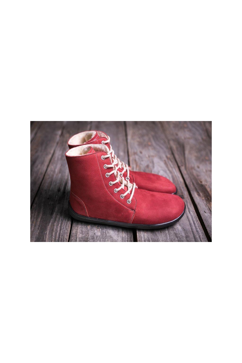 Barefoot kotnikova obuv Winter vinova 1