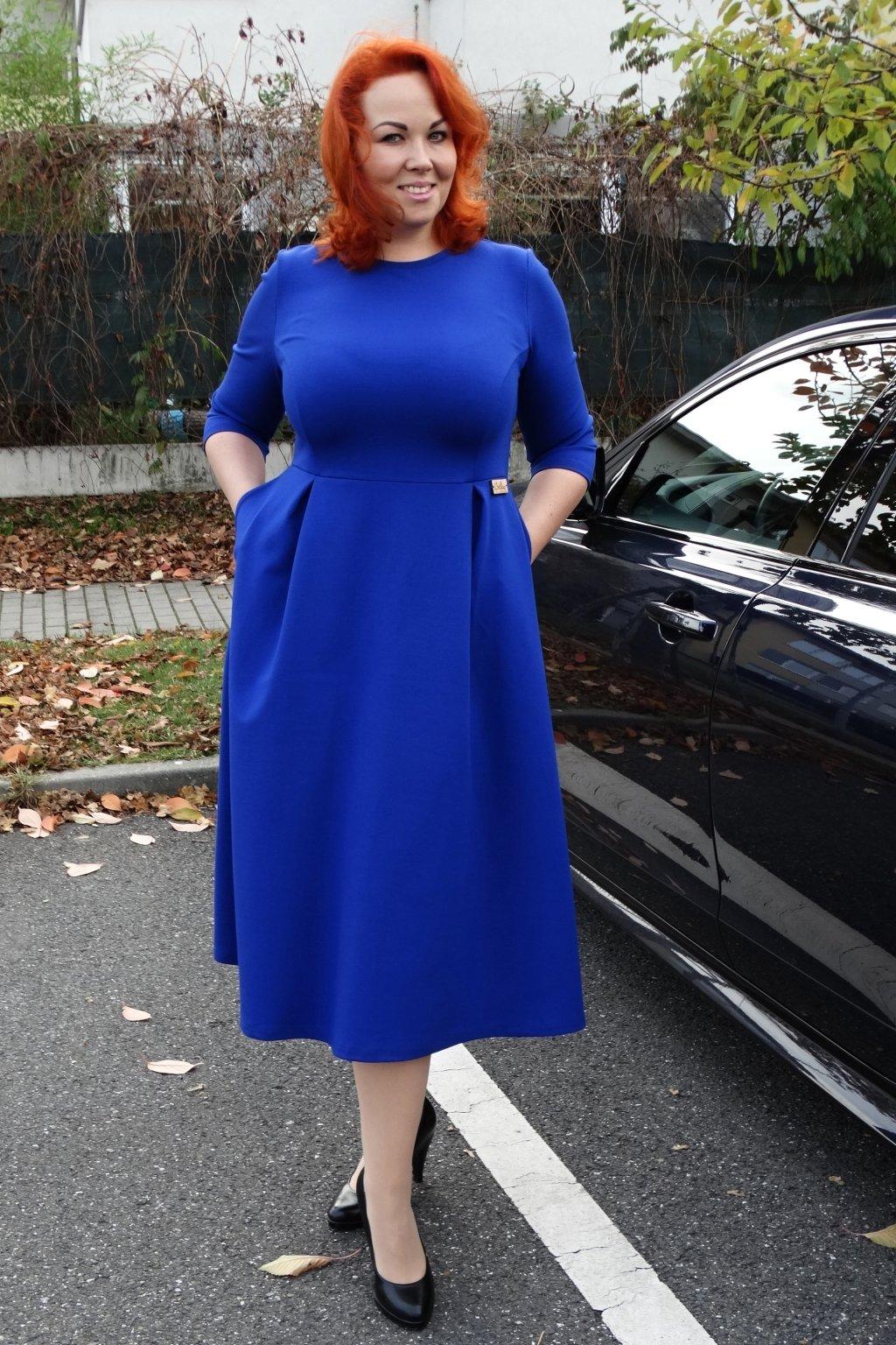 Dámské šaty Paola královská modrá 3