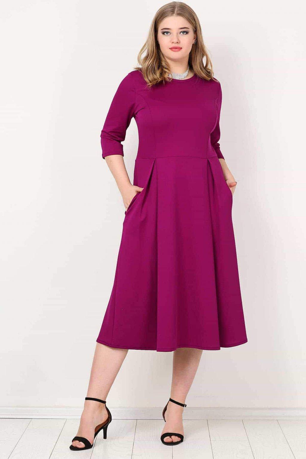 Dámské šaty Paola Bellazu královská vínová