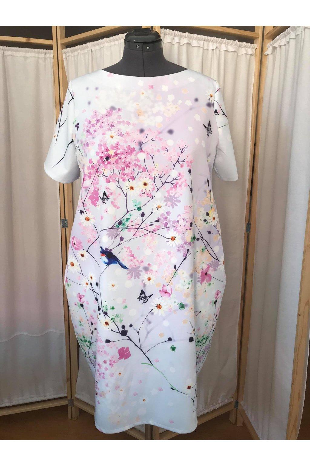 Balonové šaty Marie s ptáčky 2