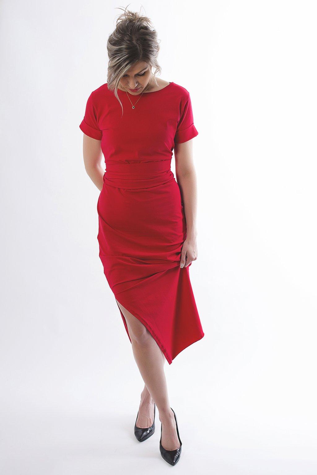 Zavinovací šaty Wrap Dress s krátkým rukávem 4
