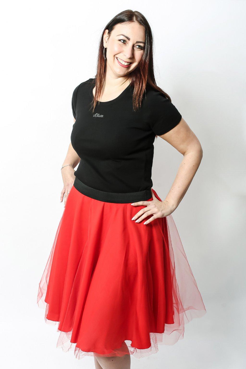 Tylová sukně Abagail ZURI červená 5