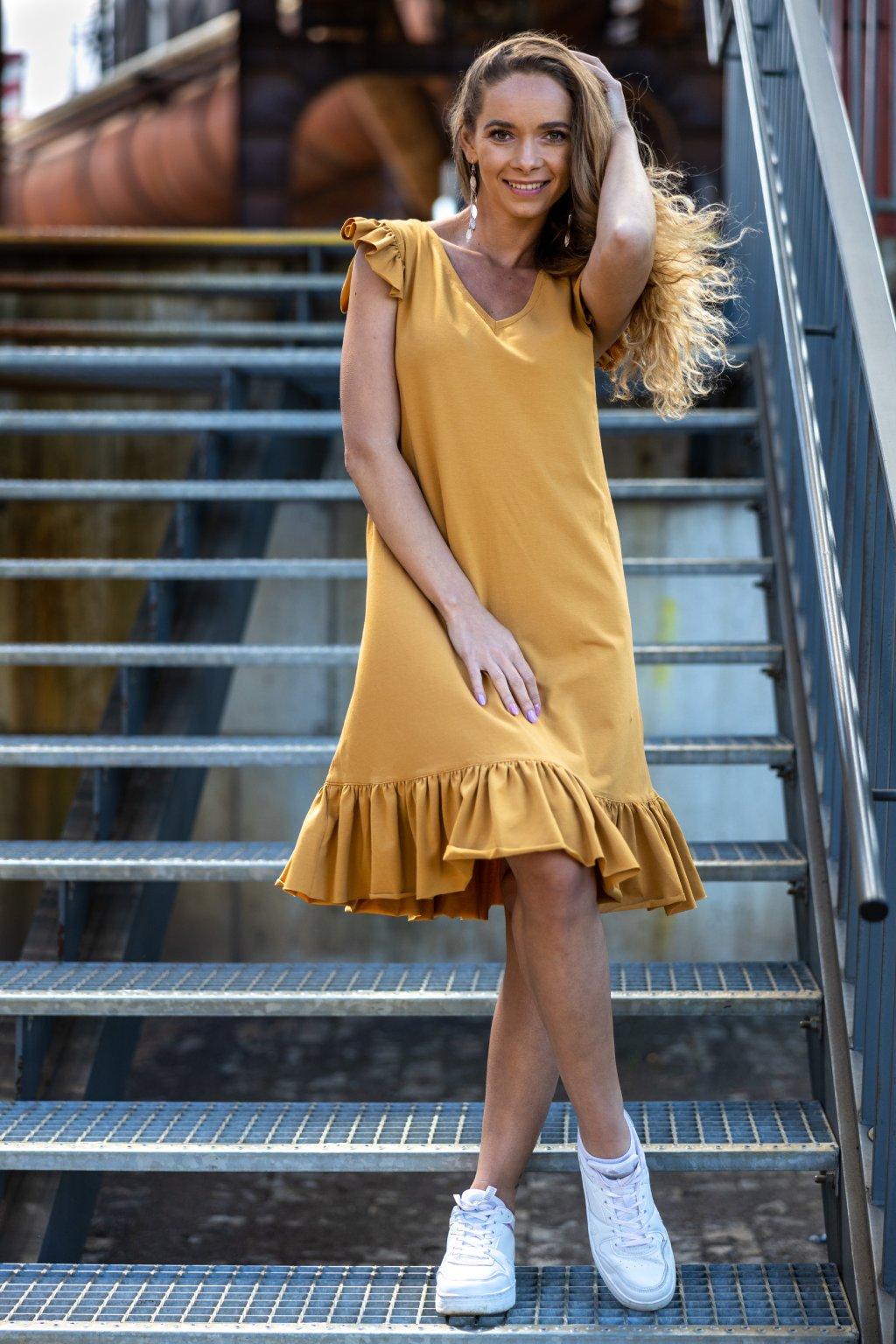 Volánkové šaty Lucy s krátkým rukávem 2