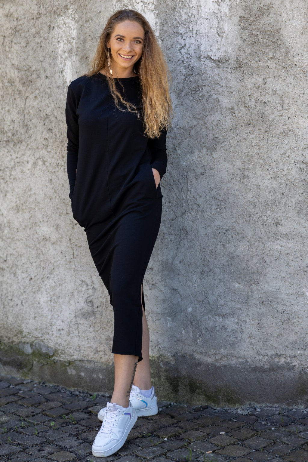 Dámské maxi šaty černé