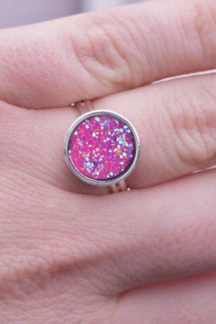 Prsten pink Dragon eye (ruzove draci oko) 2