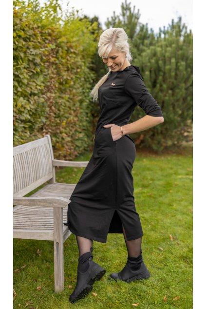 Dámské freestyle šaty černé 8