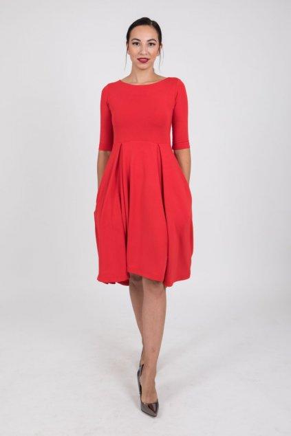 Dámské šaty Klasik červené 1