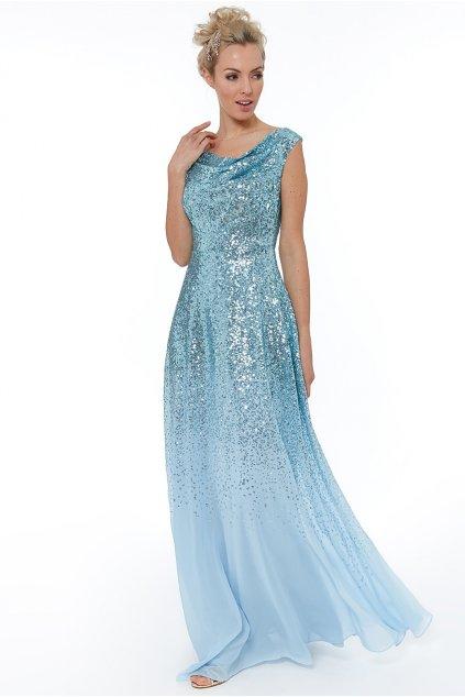 Dlouhé společenské šaty Julia světle modré