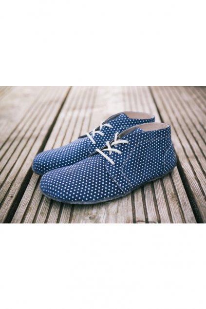 Barefoot Elegance modre s puntiky 1