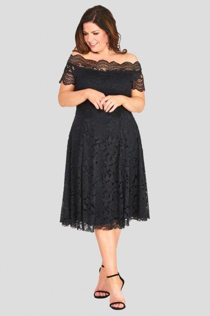 Krajkové šaty Avant Garde s rozšířenou sukní černé 1