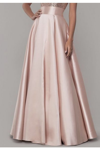 Saténová dlouhá sukně Rosie