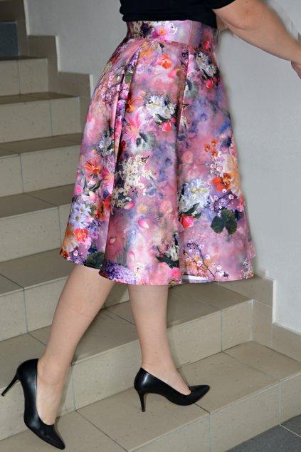 Taftová květinová sukně Rosie 9