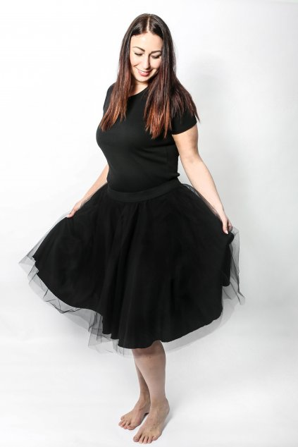 Tylová sukně Abagail ZURI černá 3