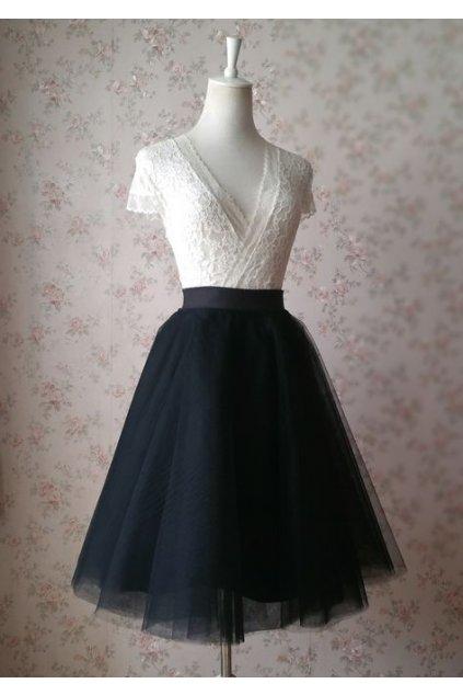 Tylová sukně Abagail Bellazu černá