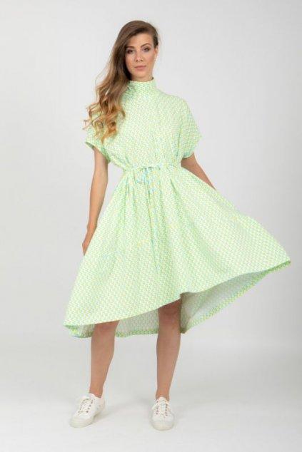 Univerzální úpletová oversize šaty pestrobarevné 11