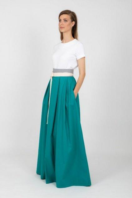 Dámská maxi sukně Frida zelenomodrá
