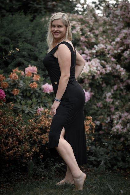 Dámské černé letní šaty 5