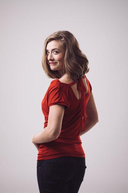 Dámská halenka Melissa s krátkým rukávem červená 2