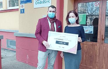 Za rok 2020 jsme podpořili hospic Ondrášek částkou 27 023 Kč