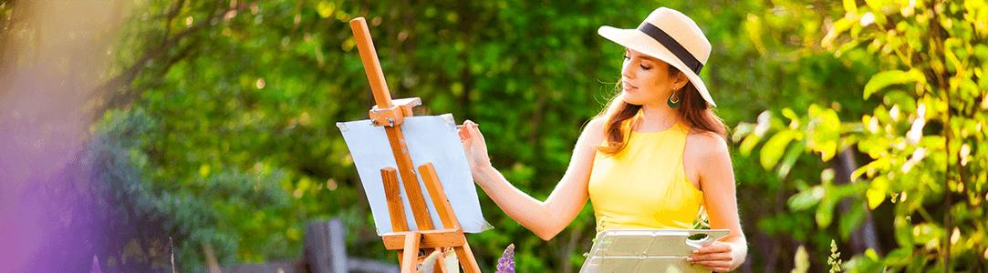 malování podle čísel - jaro