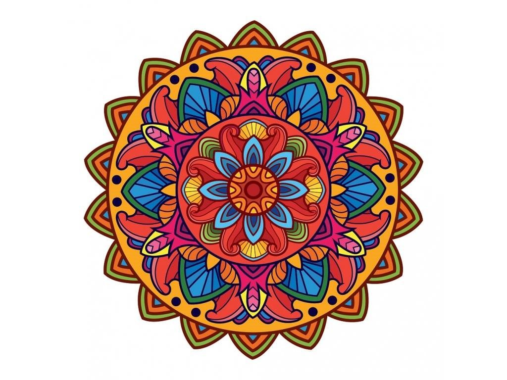 Mandala - vybarvená předloha